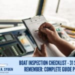 Boat Inspection Checklist - 31 Steps To Remember: Complete Guide Part 3